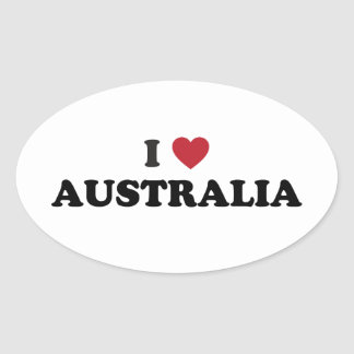 Amo Australia Calcomania De Oval
