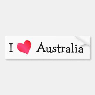Amo Australia Pegatina De Parachoque