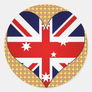 Amo Australia Pegatina Redonda