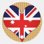 Amo Australia Pegatinas Redondas