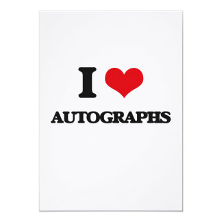 Amo autógrafos invitación 12,7 x 17,8 cm
