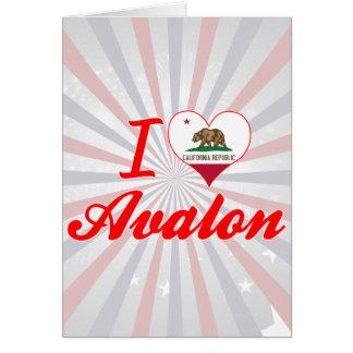 Amo Avalon, California Tarjetón
