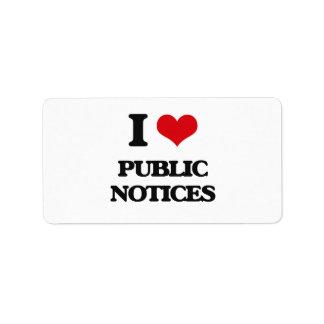 Amo avisos públicos