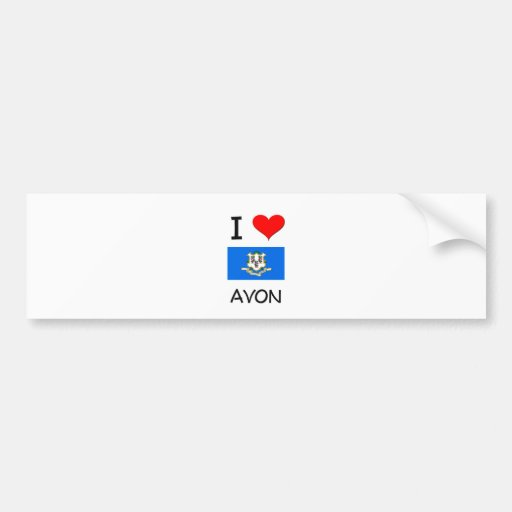 Amo Avon Connecticut Etiqueta De Parachoque