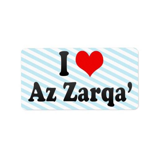 Amo Az Zarqa', Jordania Etiquetas De Dirección