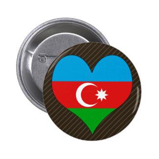 Amo Azerbaijan Pin Redondo 5 Cm