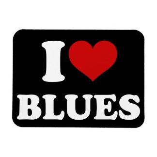 Amo azules imanes rectangulares