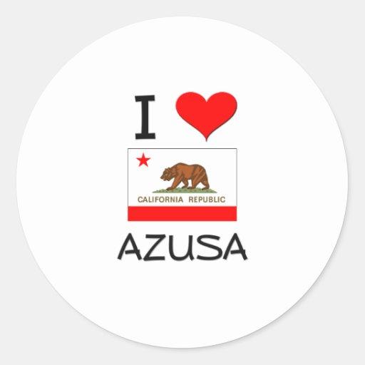 Amo AZUSA California Etiquetas Redondas