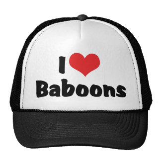Amo babuinos gorro de camionero