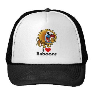 Amo babuinos gorros bordados