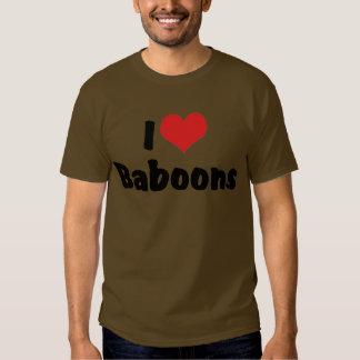 Amo babuinos remera
