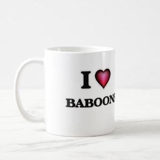 Amo babuinos taza