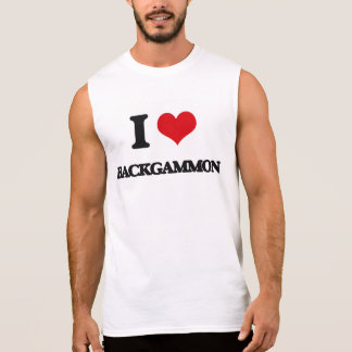Amo backgammon camisetas sin mangas