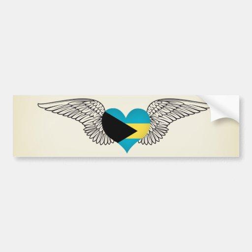 Amo Bahamas - alas Etiqueta De Parachoque