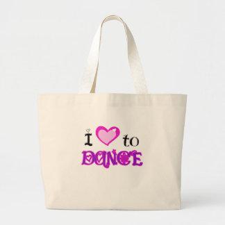 Amo bailar bolsa tela grande