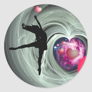 ¡Amo bailar! Pegatina Redonda
