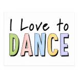 Amo bailar postal