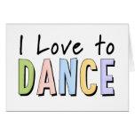 Amo bailar tarjetas