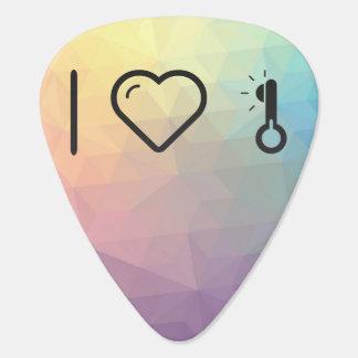 Amo bajas temperaturas púa de guitarra