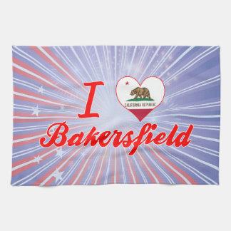 Amo Bakersfield California Toallas De Mano
