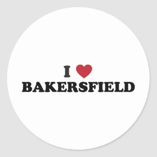Amo Bakersfield California Pegatina Redonda