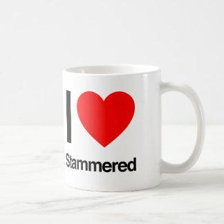 amo balbuceado taza de café