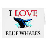 Amo ballenas azules tarjeton