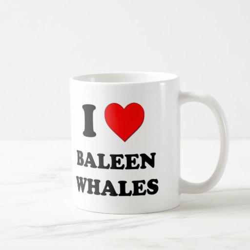 Amo ballenas de Baleen Taza De Café