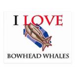 Amo ballenas de Bowhead Postal