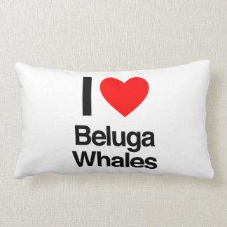 amo ballenas de la beluga almohadas