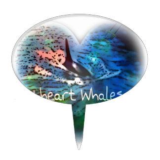 Amo ballenas de la orca en regalos del corazón figuras para tartas