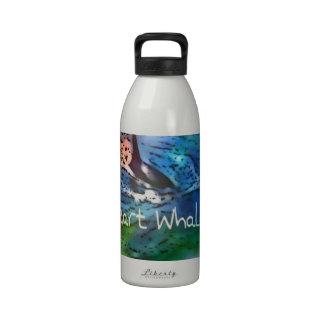 Amo ballenas de la orca en regalos del corazón botellas de beber