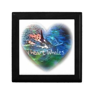 Amo ballenas de la orca en regalos del corazón caja de joyas