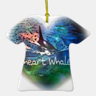 Amo ballenas de la orca en regalos del corazón ornamentos de reyes magos