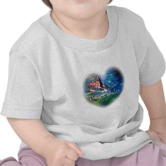 Amo ballenas de la orca en regalos del corazón camisetas