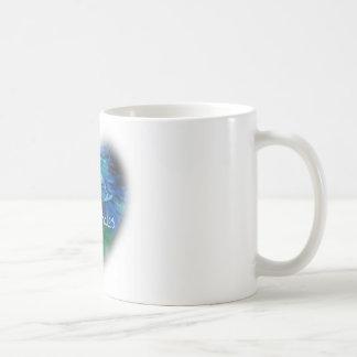 Amo ballenas de la orca en regalos del corazón taza de café