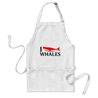 Amo ballenas delantales