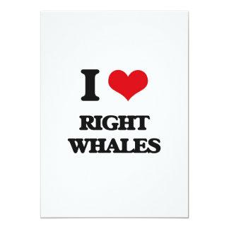 "Amo ballenas derechas invitación 5"" x 7"""