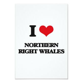 """Amo ballenas derechas septentrionales invitación 3.5"""" x 5"""""""