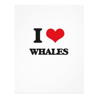Amo ballenas flyer personalizado
