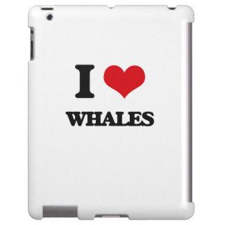 Amo ballenas funda para iPad