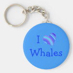 Amo ballenas llavero personalizado
