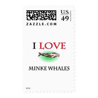 Amo ballenas pequeñas sello
