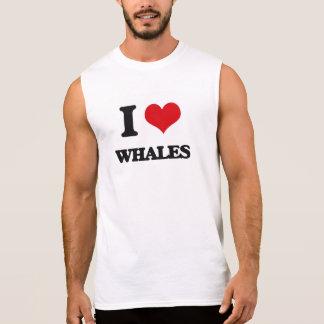 Amo ballenas camisetas sin mangas
