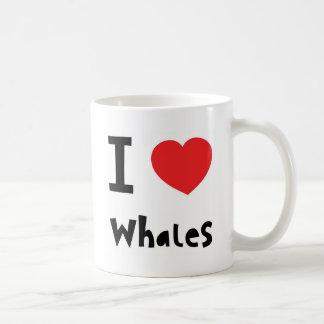 Amo ballenas taza