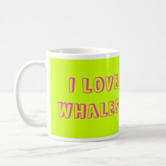 ¡Amo ballenas! Taza