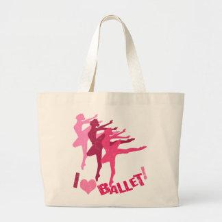 Amo ballet bolsa de tela grande