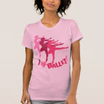 Amo ballet camisetas