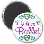 Amo ballet imán para frigorífico
