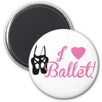 Amo ballet imán redondo 5 cm